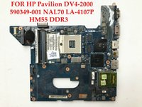 Wholesale Dv4 Motherboard - High quality laptop motherboard for HP DV4-2000 590349-001 NAL70 LA-4107P HM55 PGA989 DDR3 100% Fully tested