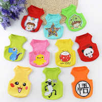 Wholesale Halloween Doraemon - Cartoon Vest Colors Breathable Leisure Clothes Pikachu Doraemon Dinosaur Vesleeveless Sweater Puppy Cotton Pet Vests New Arrival 3 8ll I