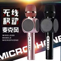 Wholesale Q9 High Quality Wireless Bluetooth Karaoke Microphone integrated with MiC and Music Player