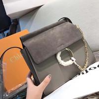 sacs à main de marque pour femmes achat en gros de-Célèbre sacs à bandoulière femmes marque de luxe en cuir véritable chaîne bandoulière sac sacs à main célèbre cercle designer sac à main de haute qualité féminine crossbag