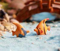 Wholesale Miniature Fish - 40pcs Moq Lovely Mini Artifiicial Hot Sale Fish Clownfish Fairy Miniature For Diy Garden Home Gnomes Landscape Decor Wholesale