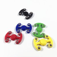 Wholesale Plastic Octopus Toy - Funny Plastic Octopus Hand Spinner Four Beads Octopuses Fidget Spinners For Autism ADHD Kids Finger Toys Anti Stress Spinning Top Hot