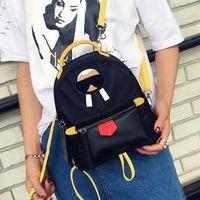Wholesale Korean Fashion Yellow Satchel Bag - korean backpacks 2017 new designer women girl 3D old man Mini Backpack cute street shool bag