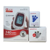 Wholesale yuwell monitors blood glucosemeter yuyue blood sugar tester glucometer monitor diabetes tester blood sugar machine with strips