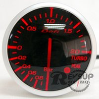Hot selling Wholesale-Red White LED 60mm DEFI Advanced BF Turbo Boost Gauge