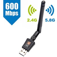 adaptateur sans fil gigabit achat en gros de-AC600 600M 802.11AC ordinateur portable Dual Band 2.4G + 5Ghz USB sans fil / WiFi Adaptateur secteur Gigabit AC Adaptador Wi Fi Récepteur
