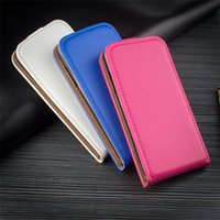 Wholesale ultrathin pocket phone online – custom Black PU Leather Ultrathin Up And Down Open Cases Flip Cell Phone Case Cover for sony xperia z5