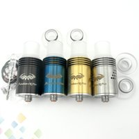 Wholesale Wholesale Dripping Atomizers - Newest Mutation X V5 Plus RDA Atomizers Rebuildable Dripping Atomizer 4 Colors 24 Holes Control Airflow with Wide Bore Drip Tip DHL Free