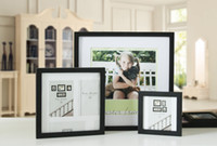 Frame square photographs - 10PCS Color Solid wooden picture frame hanging wall posters inches square studio photographs puzzle decoration as frames