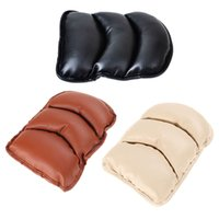 Wholesale Leather Car Seat Universal - Universal Car Seat Cover Soft Leather Auto Center Armrest Console Box Armrest Seat Protective Pad Mat Car Covers High Quality