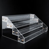 Wholesale Large Acrylic Display Stands - 4 Tier Acrylic Display Stand Large Rack Organizer Nail Polish Wall Cosmetic case Good Quality
