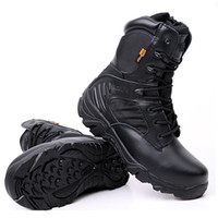 Wholesale Black Lighting Polices - Delta High quality Ultra Light Breathable Tactical Boots Mens Police Army Combat Boots US Army Shoes Desert Black size 39---45 M0912