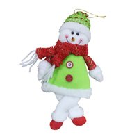 Wholesale Chritmas Tree - 2017 New Cute Santa Claus Snowman Doll Pendant Chritmas Tree Decoration Accessories Christmas Supplies Christmas Ornament