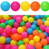 Wholesale Balls For Pit - 200pcs lot Ocean Ball Funny Colorful Ball for Baby Kids Soft Plastic Ocean Balls Children Toy Ball Swim Pits