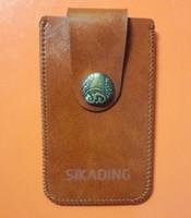 Wholesale Usb Belt - Electronic Cigarette Lighter Holder Bag Attach to Belts USB Lighter Pouch Leather Holsters 6.5cm x 2cm x 11cm
