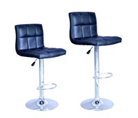 Wholesale New Black Adjustable Synthetic Leather Swivel Bar Stools Chairs B06 Sets of