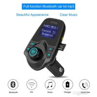 Wholesale Gps Music Player - 2017 T11 Bluetooth Hands-free Car Kit With USB Port Charger And FM Transmitter Support TF Card MP3 Music Player