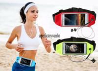 Wholesale Multipurpose Handbag - Adjustable Touch-Screen Smartphone Pocket Multipurpose Mobile Phone Waistbag Outdoor Sports Running Bag
