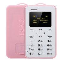 en ince cep telefonları toptan satış-Hızlı Kargo Orijinal Ultra İnce Mini AIEK / AEKU C6 Cep Telefonları Öğrenci Sürümü Kredi Kartı Cep Telefonu Bluetooth PK AIEK M5 Kart Telefon