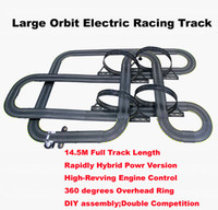Wholesale Toy Cars For Electric Track - Wholesale- 1450CM 1:43 scale children electric track racing car Large hybrid railcar game toys educational toys for kids boys