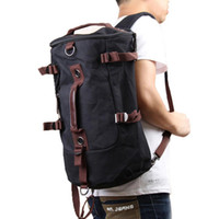 Wholesale Sport Gym Bags New High Quality Men Vintage Canvas Backpack Laptop Rucksack Outdoor Travel Hiking Climbing Shoulder Duffle Bags