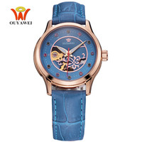 Wholesale Watch Female Mechanical - OYW Female Automatic Mechanical Watch Leather Band Woman Watch Waterproof Fashion Woman Wristwatches Dress Watch Ladies Relogio