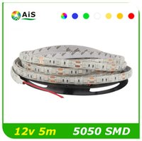 Luz Led Ruban Baratos-5M tira de LED 5050SMD IP65-impermeable 60LED / M DC12V Flexible Ledstrip luces tira RGB color blanco rojo solo led lucas ruban led tiras