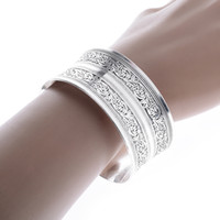 Wholesale China Amulet - 10 Pcs Vintage Jewelry For Women Tibetan Silver Antiqued Cuff Bangle Tibet Mantras Dorje Amulet Open Bangle & Bracelet