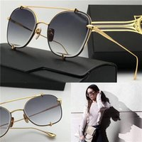 Fashion square d box - Luxury brand designer sunglasses D T talon two metal square frame top quality uv400 protection sunglasses retro fashion style with box