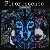 Wholesale Light Skin Animals - For IPhone 7 7plus Night Light Lumious Noctilucent Iphone 6 6S Soft TPU Skin Case Cover Animal Flower Deer Cases (Fluorescence)