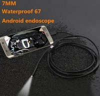 Wholesale Small Industrial Camera - 7mm 1M OTG Android Phone Endoscope IP67 Waterproof Borescope Mini Camera with 1 * (Small hook+Magnet+ Side audition+USB line)