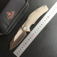 Wholesale Leaf Blade - Kevin John Microtech titanium matrix processing S35vn leaf ball bearing tactical fin folding camping hunting knife knife pocket EDC tool