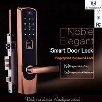 Wholesale Digital Fingerprint Lock - CARDORIA M# High Quality Smart Electronic Digital keypad Password Fingerprint Door Lock fingerprint, password,M1 card, key