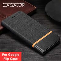 Wholesale Nexus Black Tpu - GAGALOR Luxury Flip Case For Google Nexus 5X 6P Pixel 2 Pixel Xl 2 Cover PU Leather+Soft Silicone Case Card Slot Holster