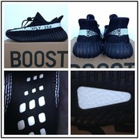 Wholesale Womens Flat Shoe Wholesalers - 2017 SPLY 350 boost V2 Green Oreo BY9612 BY1604 Black Red Bred 350 Boosts Black Grey Orange womens running Shoes UK 3.5-12
