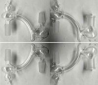 Wholesale Ash Cool - cool glass drop down 14.4mm 18.8mm reclaimer dropdown ash catcher function 14mm 18mm glass dropdowns