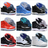 Top Quality Retro 11 Space Jam Bred Gamma Azul Zapatos de baloncesto Hombres Mujeres 11s Concords 72-10 Legend Blue Cool Grey Sneakers With Box