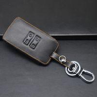 Wholesale Renault Leather - High-quality Genuine Leather Car Key Fob Case Holder Bag For Renault Kadjar 4 Buttons