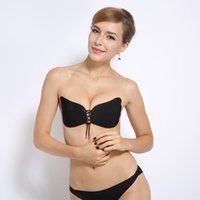 Wholesale Black Silicon Bra - DHL Free Self Adhesive Strapless Bra Butterfly Shaped Silicon Bras e Push Up Nubra Strapless Self Adhesive Stick on Invisible Bra