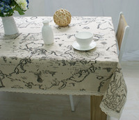 Wholesale Hot Selling High Quality European map printed cotton and linen table cloth Flax towel universal table cloth