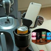 Wholesale Newest in Auto Multi functional car phone Holder cellphone cups Drink Sunglasses Card Coin Small Accessories Holder DHL