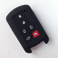 Wholesale Toyota Key Holders - Silicone Rubber Key fob cover set skin holder case for toyota Sienna se 6 buttons remote keyless entry protect shell accessorie