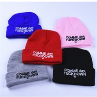 Wholesale Hats Comme Des Fuckdown Beanie - Women Winter Hat SSUR COMME DES FUCKDOWN Hats Cotton Cartoon Knitted Skuilles Beanies For Boys Girls Brand Warm Hat High Quality Wholesale