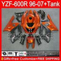 Wholesale Yamaha Yzf Thundercat Fairing - 8Gift 23Color For YAMAHA YZF600R Thundercat 96 97 98 99 00 01 53HM17 Orange black YZF-600R YZF 600R 1996 1997 1998 1999 2000 2001 Fairing