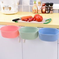 Wholesale Stainless Steel Kitchen Cabinets Wholesale - Plastic Trash Can Kitchen Cabinet Garbage Bin Door Mounted Storage Box Tuba Case European Container Lidless Trash Basket New 2sl I