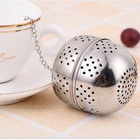Wholesale Teapot Shape Tea Strainer - 4cm Spice Egg Shaped Silver Stainless Steel Seasoning Ball Teakettles Strainer Tea Filter Locking Teapot Drinkware Tools CCA6979 1000pcs