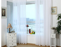 Wholesale Ready Made Curtain Window - free shipping ready made white sheer curtains for living room voile tulle curtain for bedroom of windows
