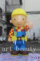 Wholesale Inflatable Bobs - Free shipping wholesale 3m height cartoon inflatable Bob the Builder for advertising