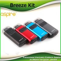 Wholesale Aspire One Battery - Original Aspire Breeze Starter Kits all-in-one device Aio With 650mah Battery 2ml Tank U-tech Coil for Flavorful Vape 100% Genuine 2210081