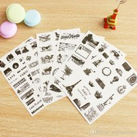 Wholesale gift sets decals for sale - Group buy 6 set New photo album Scrapbook decoration vintage stamp stickers DIY Handmade Gift Card Scrapbooking